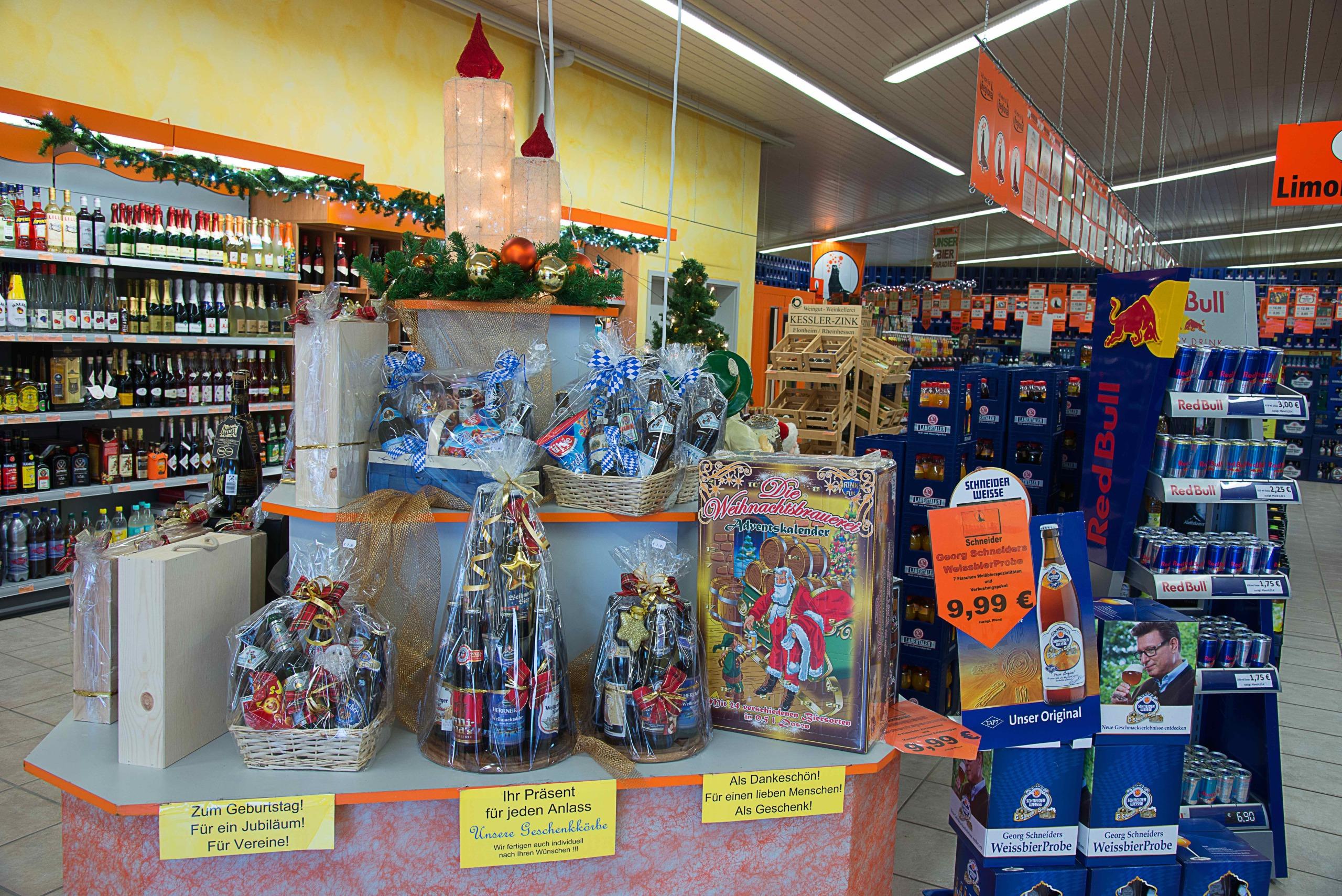 Hausler Getränkemarkt _ Advent Geschenke