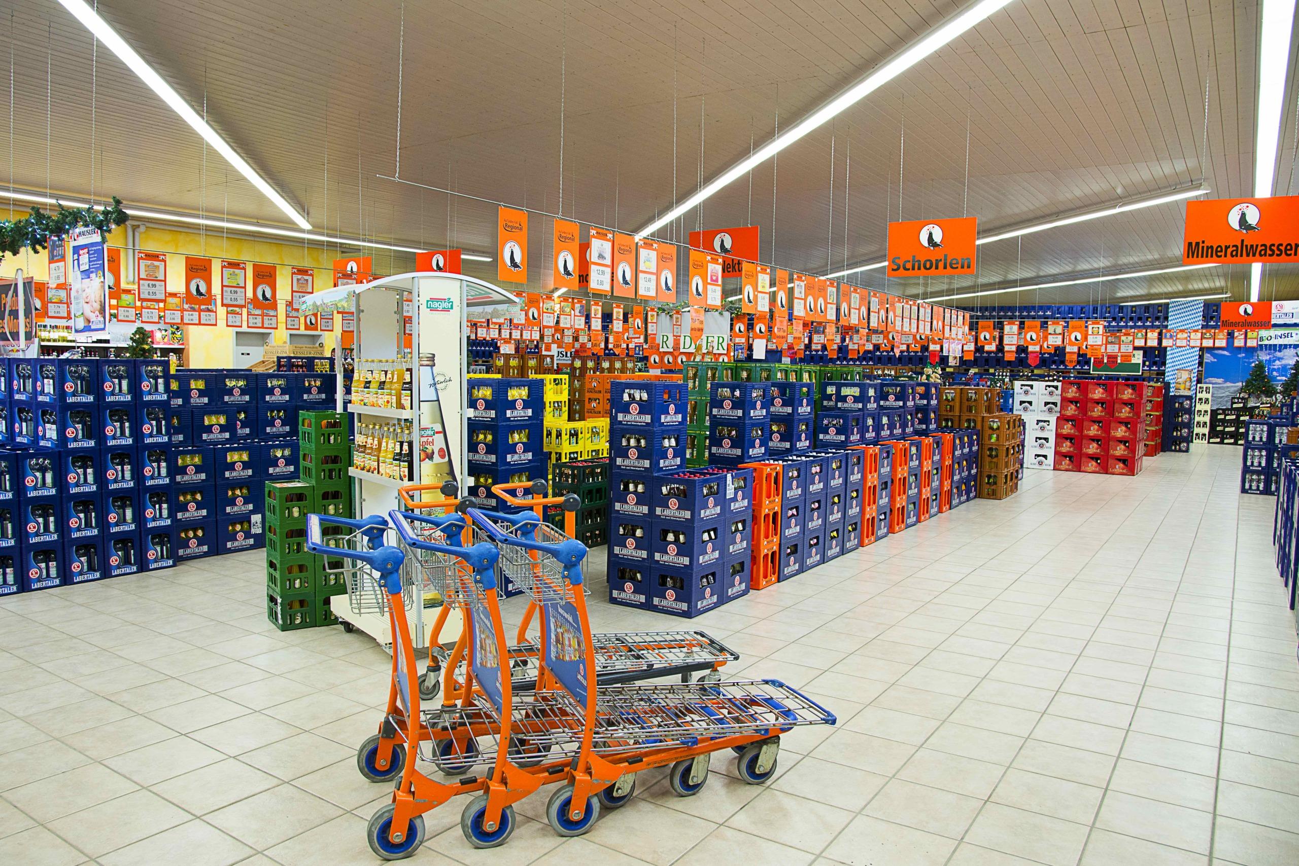 Hausler Getränkemarkt _ Schorlen und Mineralwasser